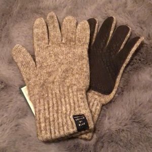 Bison Leather Wool Gloves